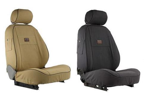 2007-2011 FORD RANGER MK2 HEAVY DUTY WATERPROOF BLACK SEAT COVERS 1+1